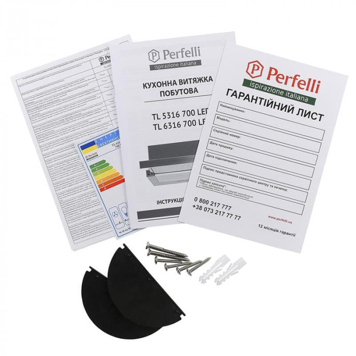 Витяжка Perfelli TL 6316 Full Inox 700 LED