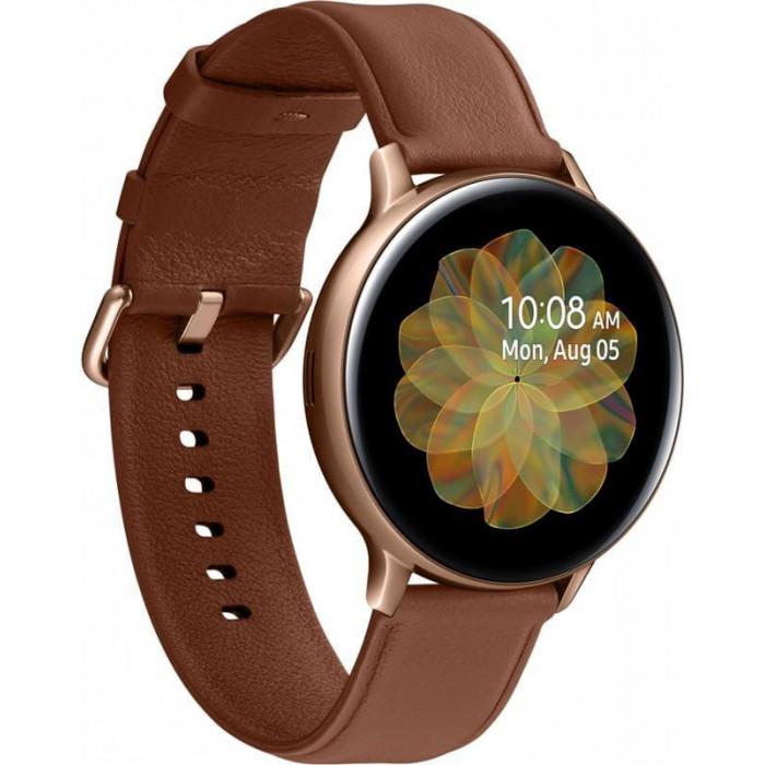 Смарт-годинник Samsung Galaxy Watch Active 2 44mm Gold Stainless steel (SM-R820NSDASEK)