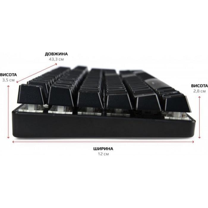 Клавіатура Motospeed CK104 Outemu Blue RGB (mtck104cmb) Silver USB