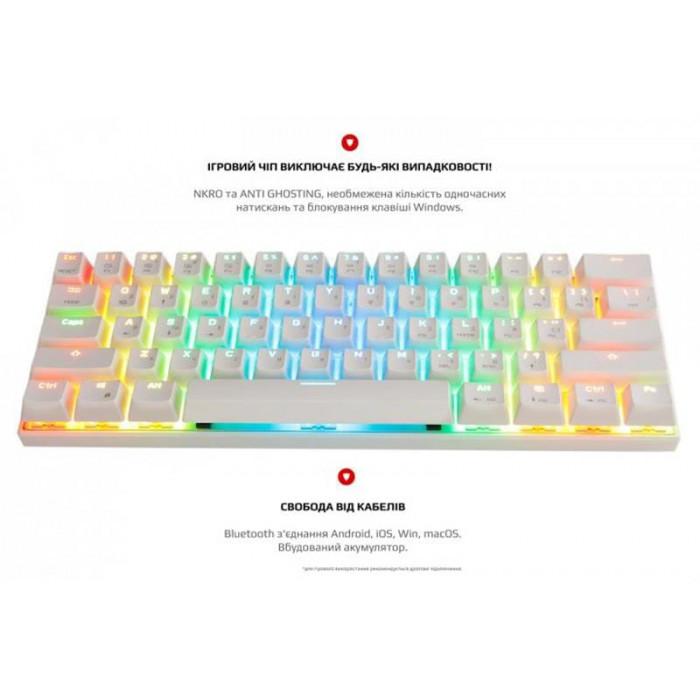 Клавіатура Motospeed CK62 Outemu Red (mtck62wmr) White USB